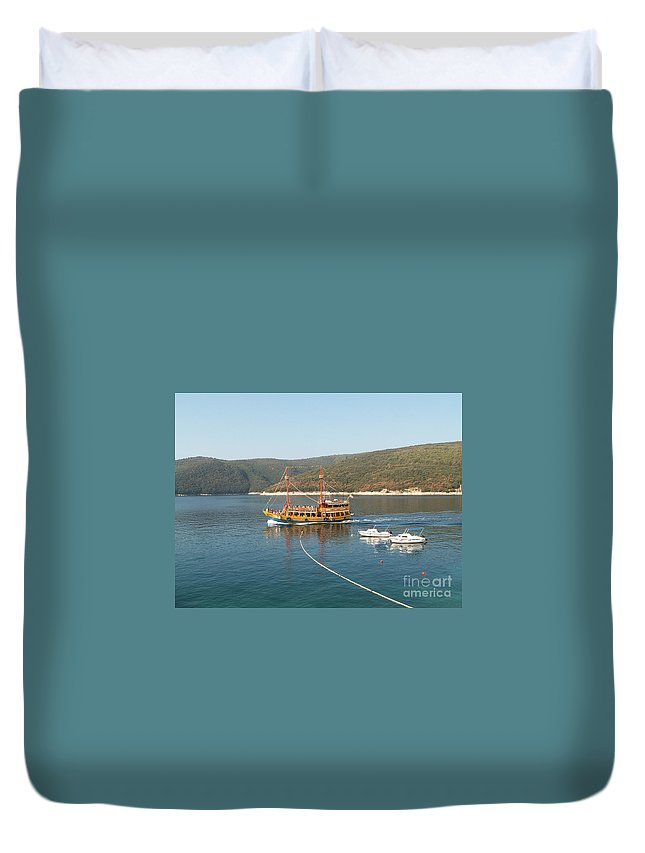 Boat Duvet Cover featuring the photograph Boat Trip by Evgeny Pisarev