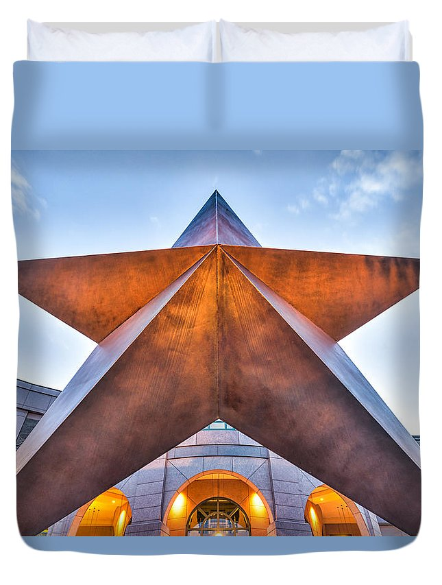 Bob Bullock Museum Duvet Cover featuring the photograph Texas Star by Tod and Cynthia Grubbs