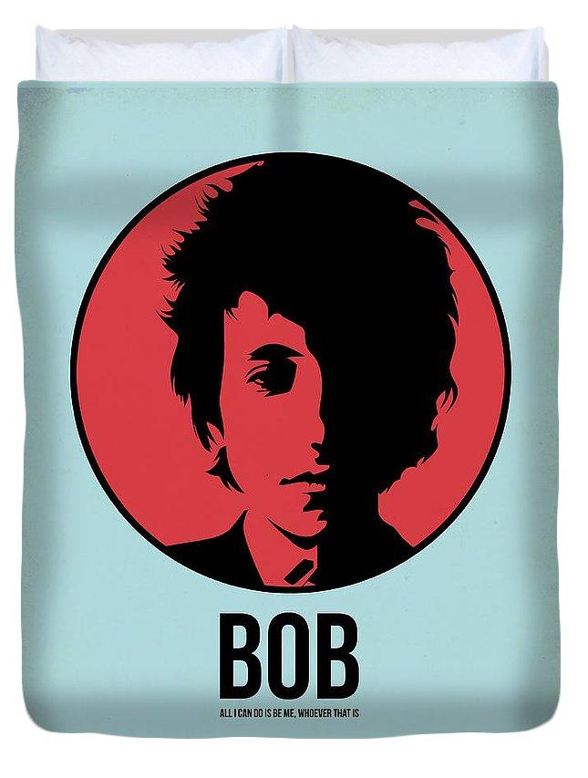 Music Duvet Cover featuring the digital art Bob Poster 2 by Naxart Studio