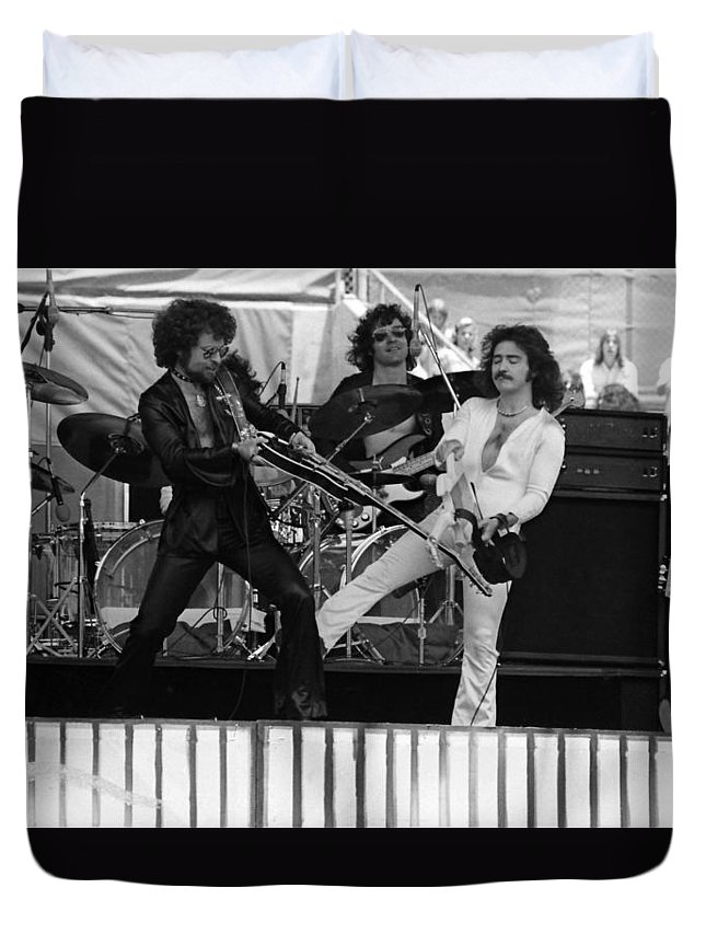 Blue Oyster Cult Duvet Cover featuring the photograph Boc #28 by Ben Upham