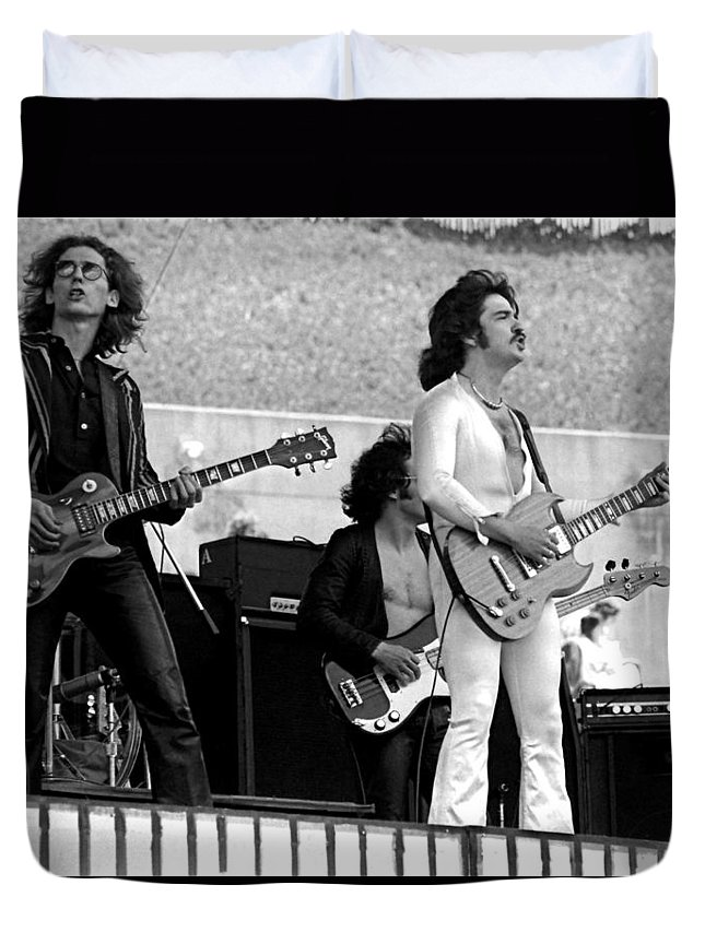 Blue Oyster Cult Duvet Cover featuring the photograph Boc #61 by Ben Upham