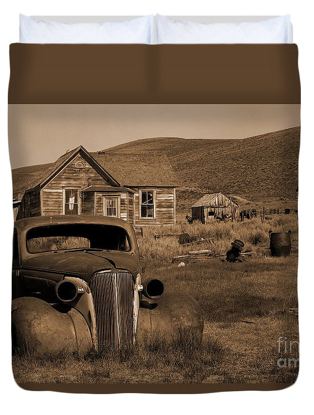 Car Duvet Cover featuring the photograph Bodie  #72986 by J L Woody Wooden