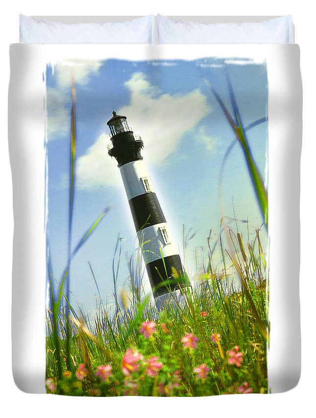 Lighthouse Duvet Cover featuring the photograph Bodie Light II by Mike McGlothlen