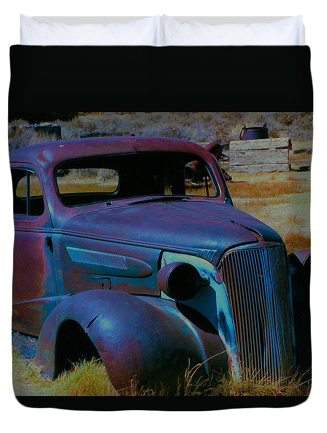 Barbara Snyder Duvet Cover featuring the digital art Bodie Plymouth by Barbara Snyder