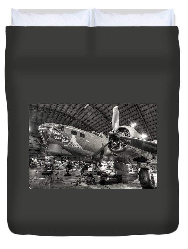B-17 Bomber Duvet Cover featuring the photograph Boeing B-17 Bomber by David Dufresne