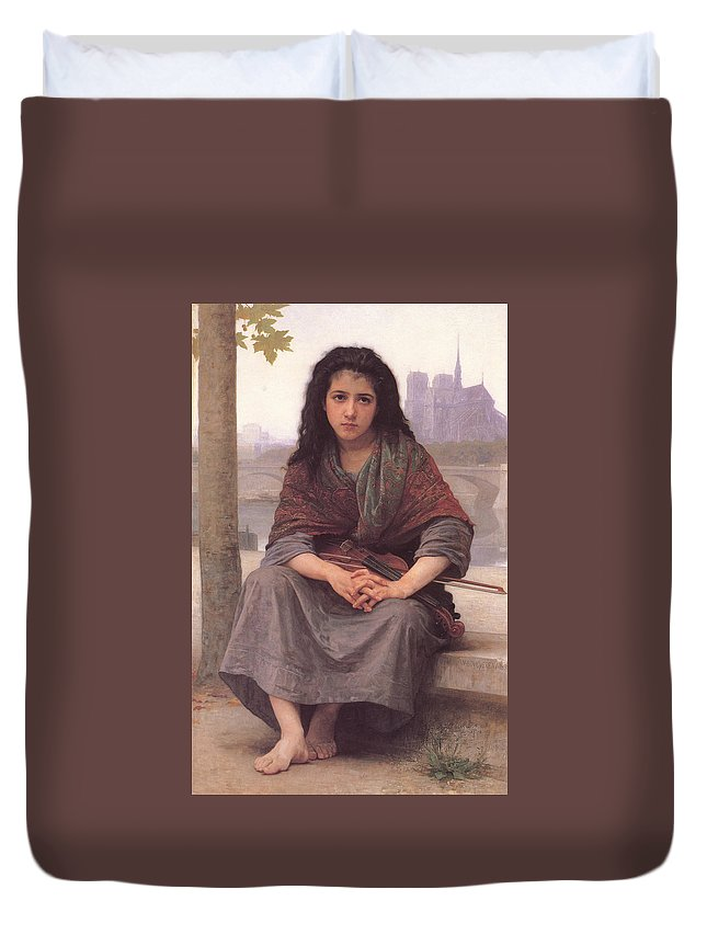 William Bouguereau Duvet Cover featuring the digital art Bohemian by William Bouguereau