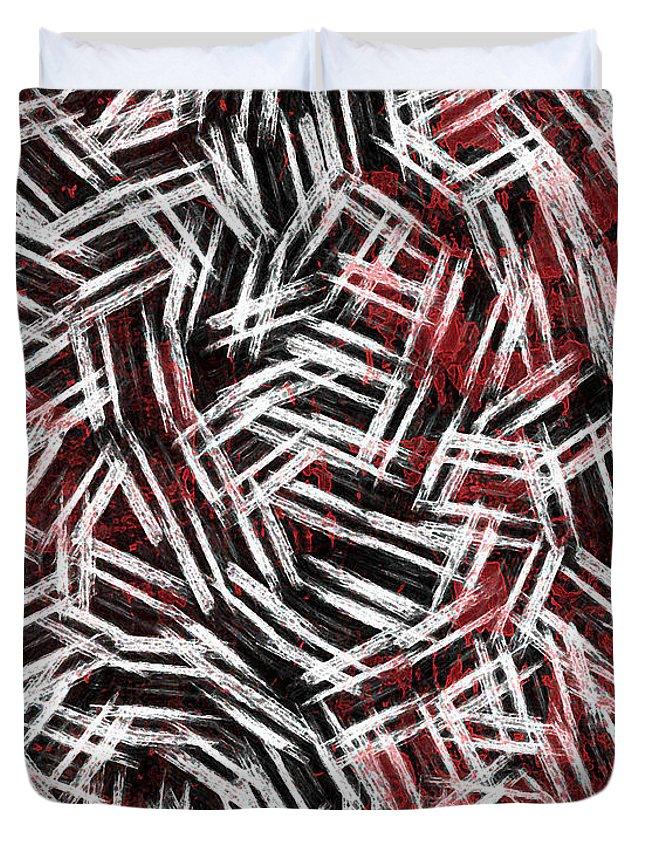 Bold Duvet Cover featuring the digital art Bold Statement by Rhonda Barrett