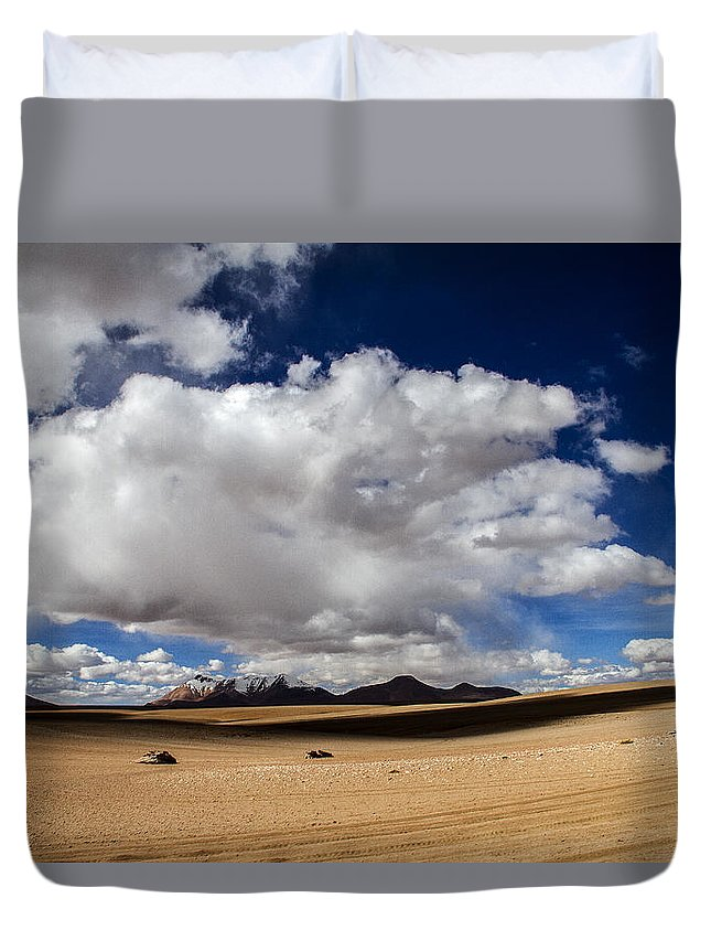 Desert Duvet Cover featuring the photograph Bolivia Cloud Valley by For Ninety One Days