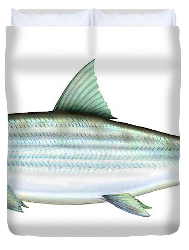 Charles Duvet Cover featuring the painting Bonefish by Charles Harden
