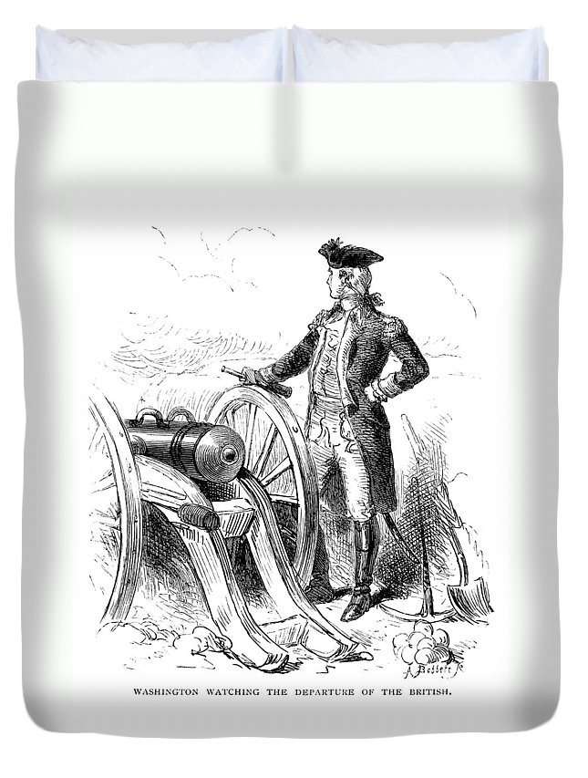 1776 Duvet Cover featuring the photograph Boston: British Evacuation by Granger
