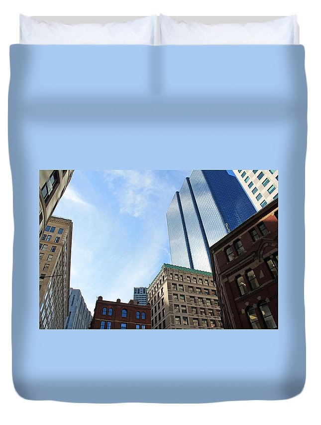 Architecture Duvet Cover featuring the photograph Boston Ma Architecture 2 by Michael Saunders