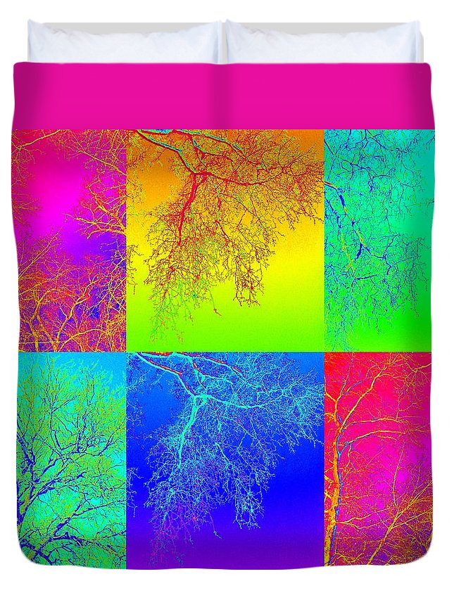 Trees Duvet Cover featuring the photograph Botanic Gardens Day Out by Cathy Jacobs