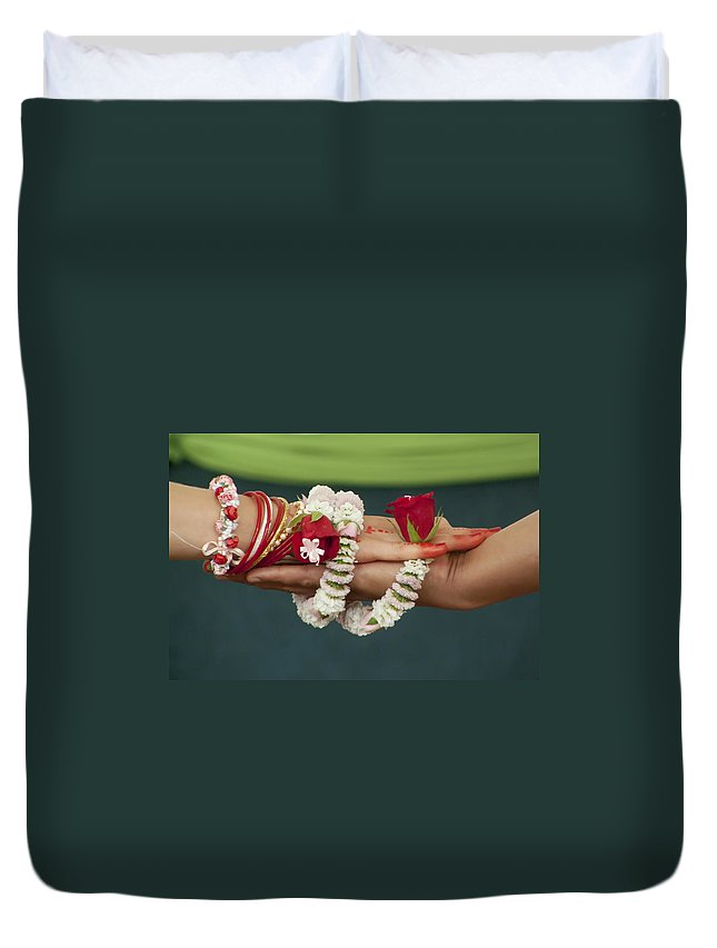 Bound Duvet Cover featuring the photograph Bound For Eternity by Daniel Csoka