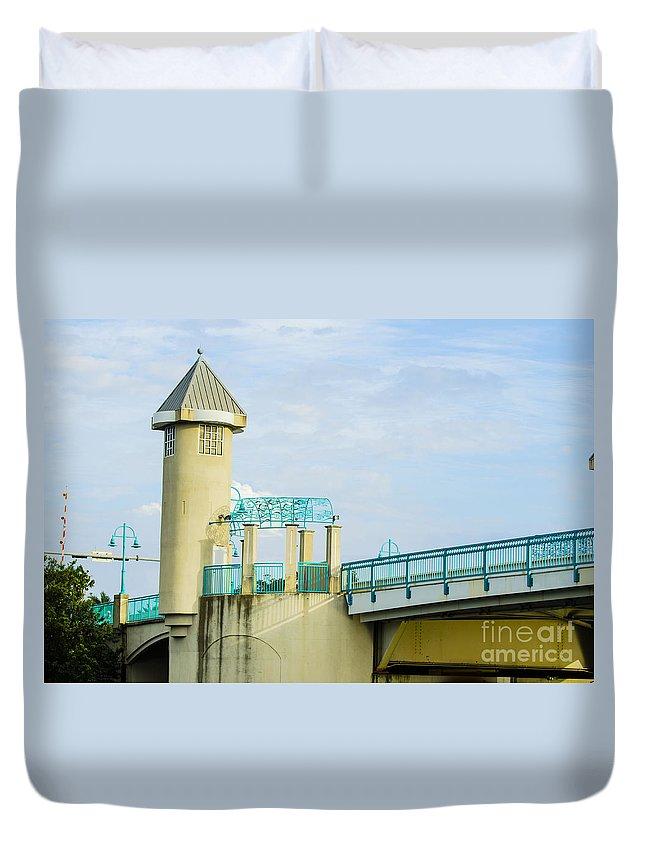Bridge Duvet Cover featuring the photograph Boyton Beach Bridge by Judy Wolinsky