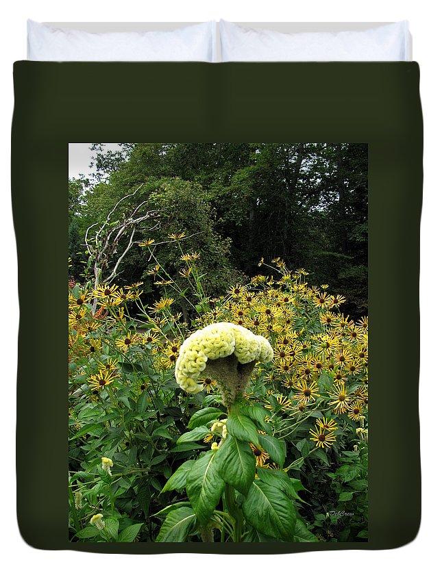 Flower Duvet Cover featuring the photograph Brain Flower by Deborah Crew-Johnson