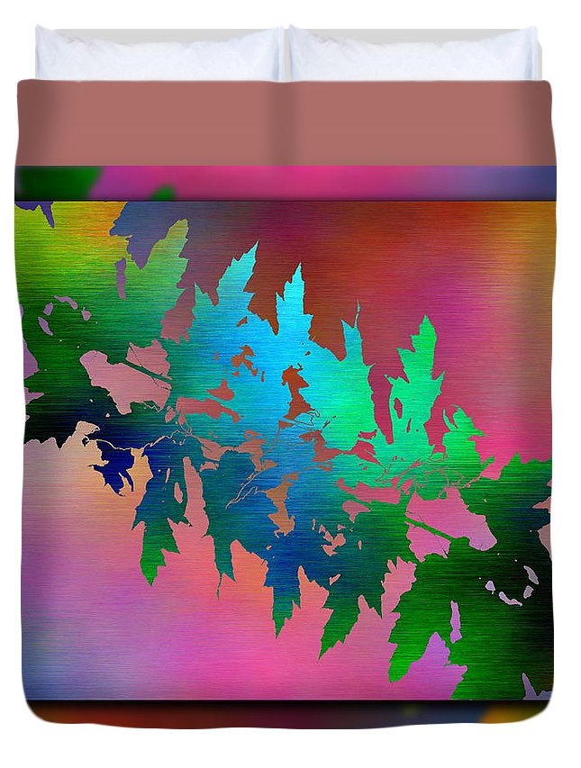 Abstract Duvet Cover featuring the digital art Branches In The Mist 18 by Tim Allen