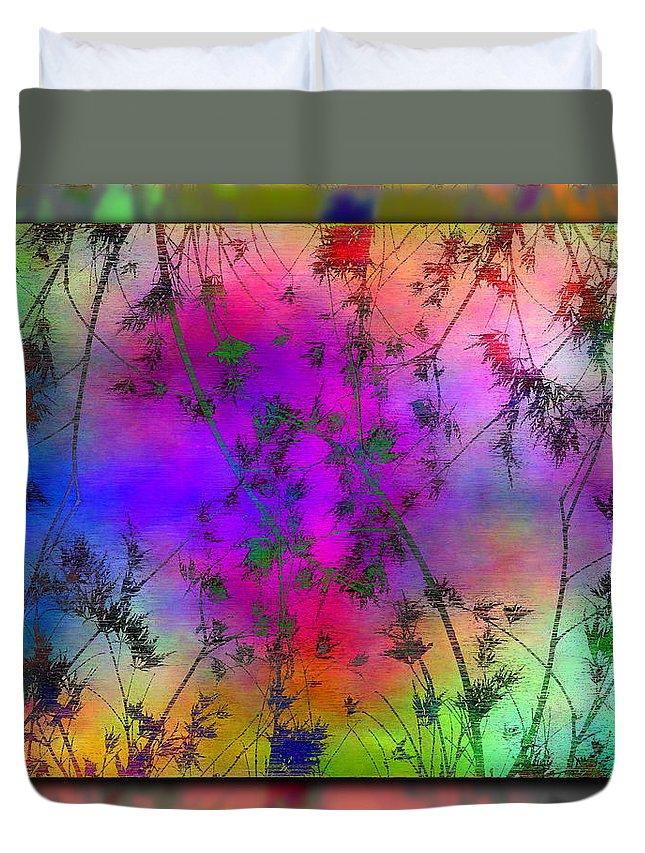 Branch Duvet Cover featuring the digital art Branches In The Mist 5 by Tim Allen