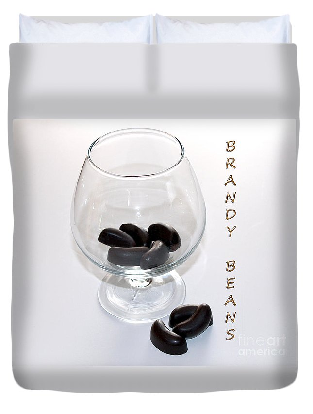 Brandy Duvet Cover featuring the photograph Brandy Beans - Liqueur - Chocolate by Barbara Griffin
