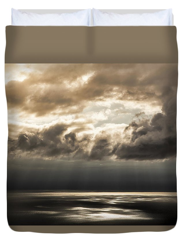 Alaska Duvet Cover featuring the photograph Break In The Storm by Michele Cornelius