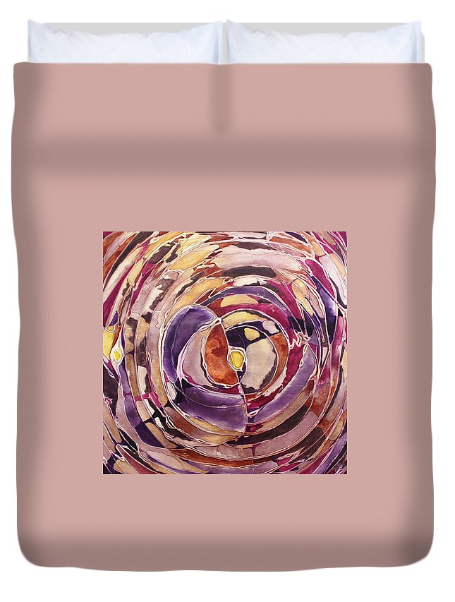 Eye Duvet Cover featuring the painting Breaking Dawn by Pat Purdy