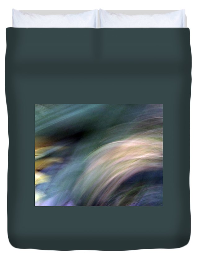 White Duvet Cover featuring the photograph Breaking The Waves by Munir Alawi