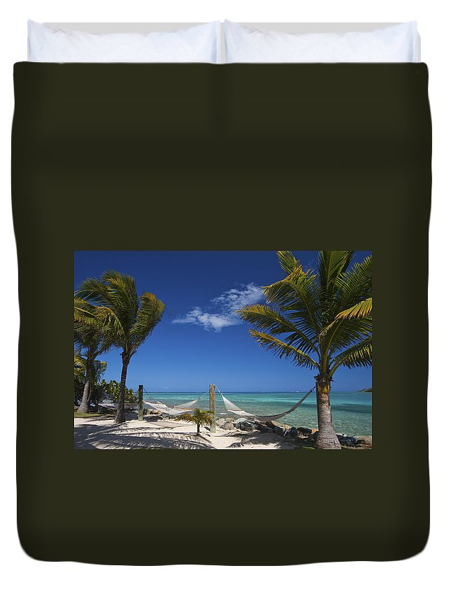 3scape Duvet Cover featuring the photograph Breezy Island Life by Adam Romanowicz