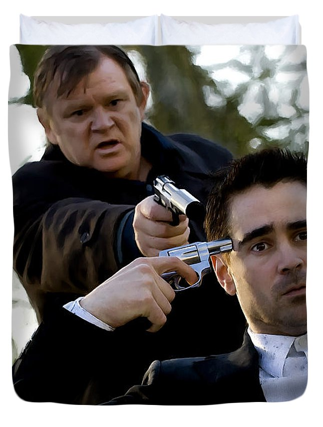 Brendan Gleeson Duvet Cover featuring the digital art Brendan Gleeson and Colin Farrell @ In Bruges by Gabriel T Toro