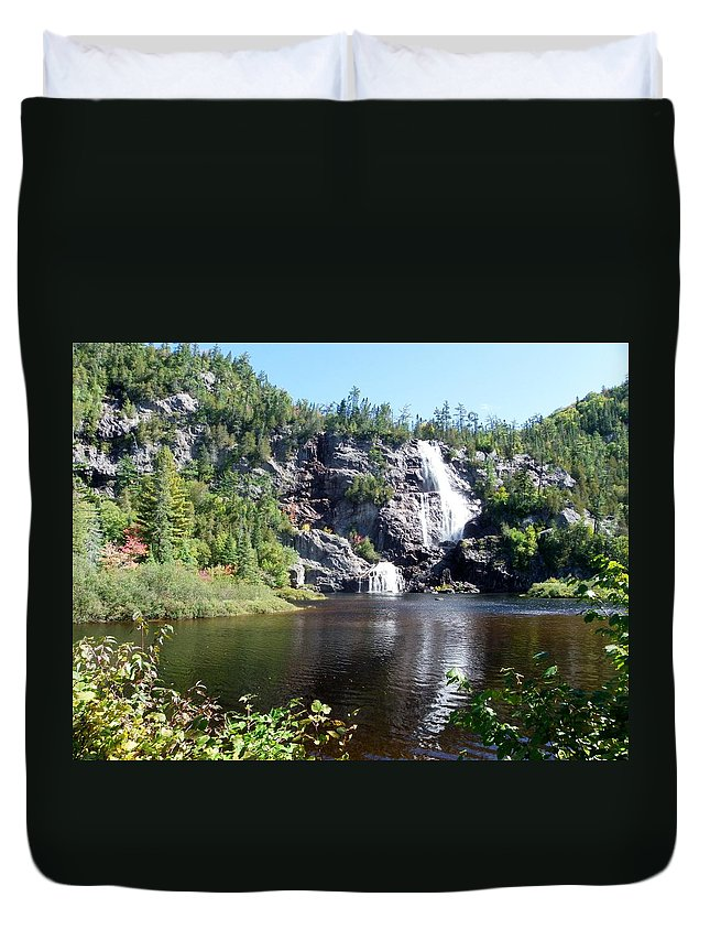 Nature Duvet Cover featuring the photograph Bridal Veil Falls by Peggy King