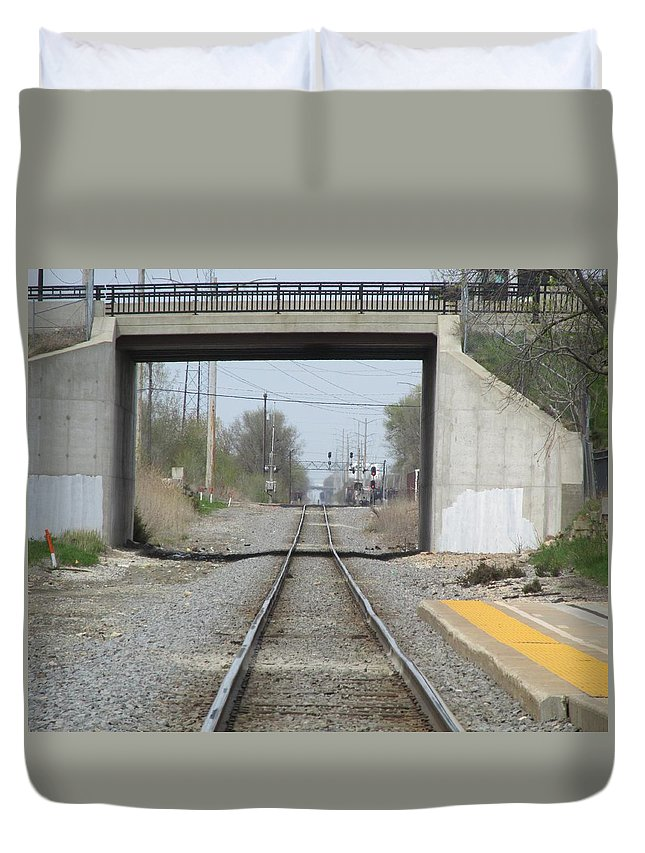 Overpass Duvet Cover featuring the photograph Bridge Overpass by Don Baker
