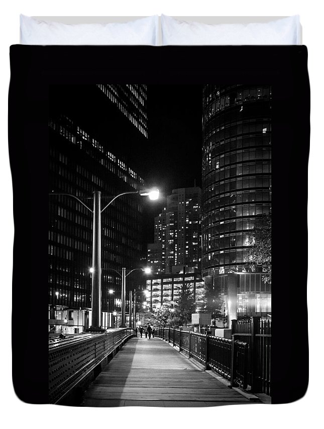 Chicago Duvet Cover featuring the photograph Long Walk Home by Melinda Ledsome