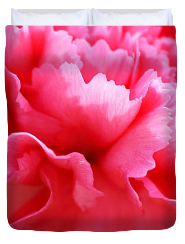 Carnation Duvet Cover featuring the photograph Bright Carnation by Carol Lynch
