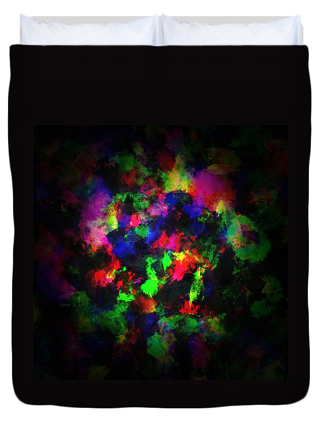 Paint Duvet Cover featuring the digital art Bright Colors Of Paint by Phil Perkins
