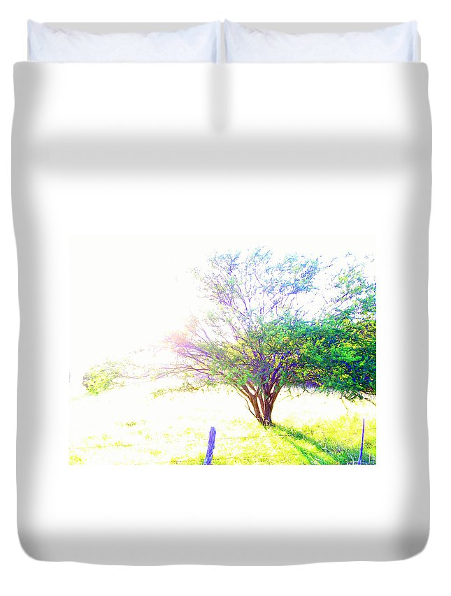 Texas Hill Country Duvet Cover featuring the photograph Bright Day by Laurette Escobar