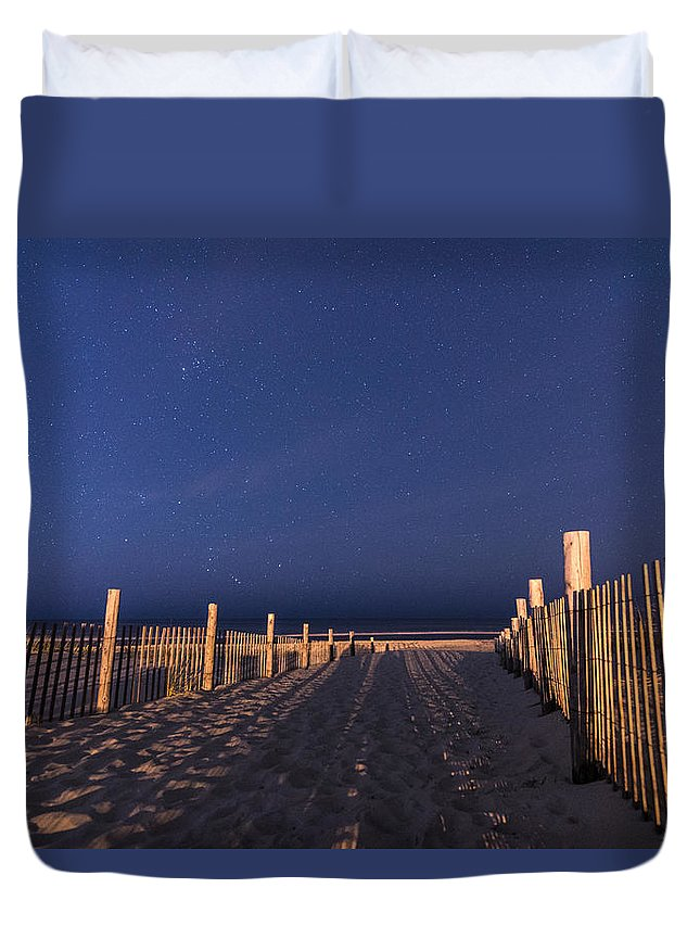 New Jersey Duvet Cover featuring the photograph Bright Dunes by Kristopher Schoenleber