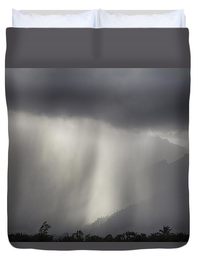 Rain Duvet Cover featuring the photograph Bring On The Rain by Douglas Barnard