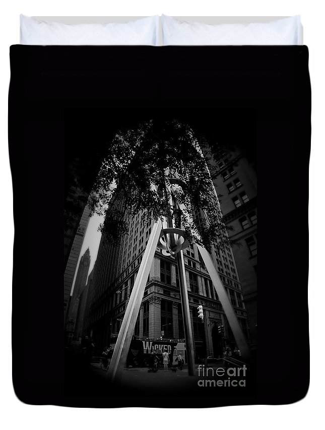 Nyc Duvet Cover featuring the photograph Broadway Nyc by Chet B Simpson