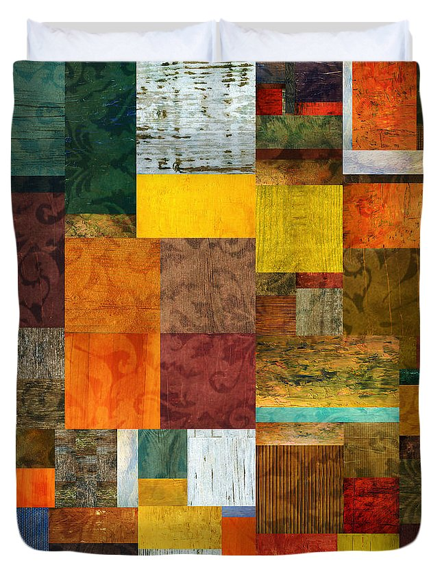 Brocade Duvet Cover featuring the digital art Brocade Color Collage 1.0 by Michelle Calkins