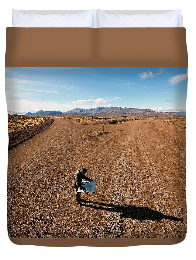 Patagonia Duvet Cover featuring the photograph Brody Leven, Patagonia, Chile by Adam Clark