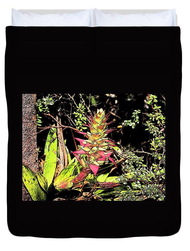 Bromeliad Duvet Cover featuring the photograph Bromeliad by Lorraine Baum