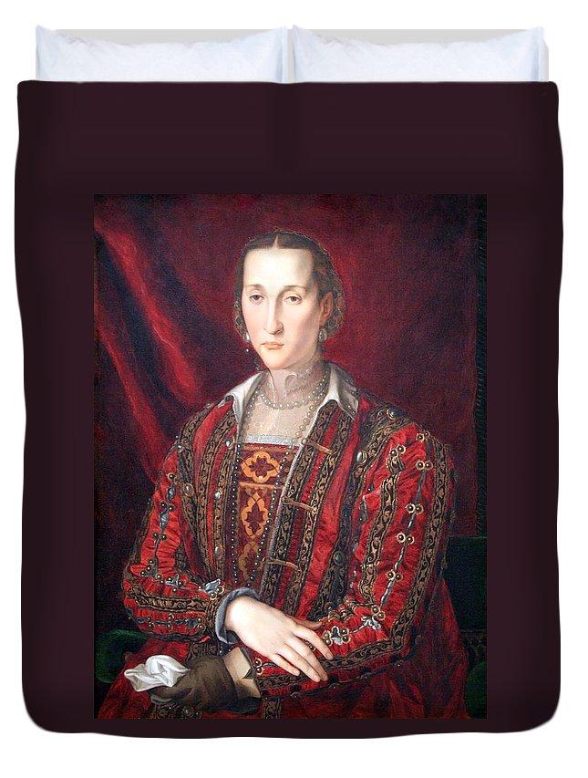 Eleonora Duvet Cover featuring the photograph Bronzino's Eleonora Di Toledo by Cora Wandel