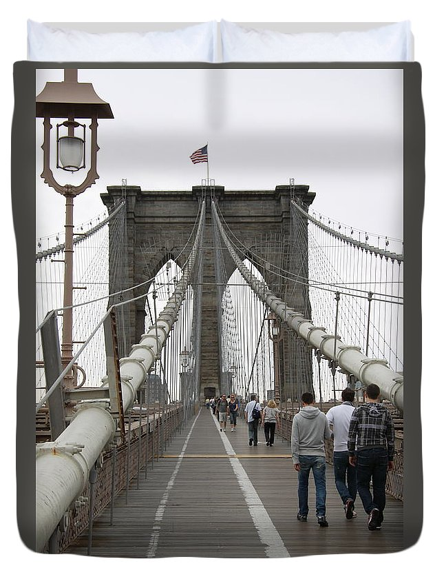 Bridge Duvet Cover featuring the photograph Brooklyn Bridge II by Christiane Schulze Art And Photography