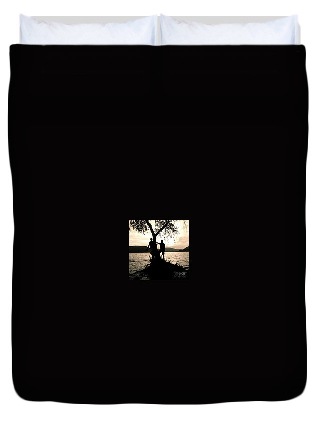 Boys Duvet Cover featuring the photograph Brotherly Love by Christy Gendalia