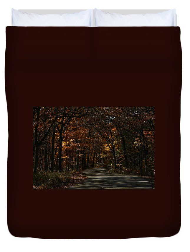Brown County State Park Duvet Cover featuring the photograph Brown County State Park by Dan McCafferty