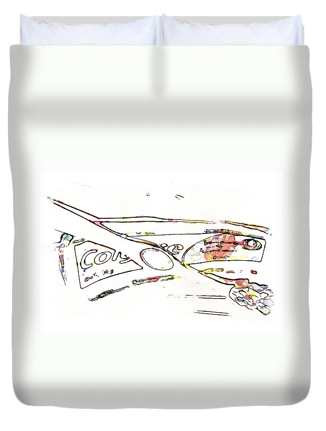 Tooth Duvet Cover featuring the digital art Brush And Paste by Paul Stevens