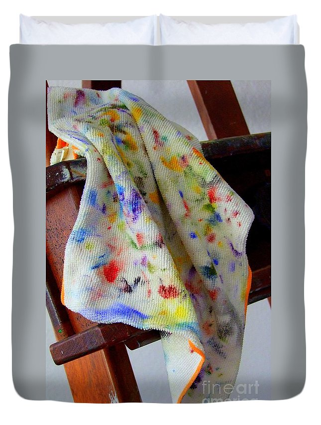 Paintings Duvet Cover featuring the photograph Brush Cleaner by Mary Deal