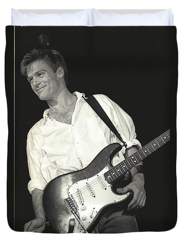 Bryan Adams Duvet Cover featuring the photograph Bryan Adams by Concert Photos