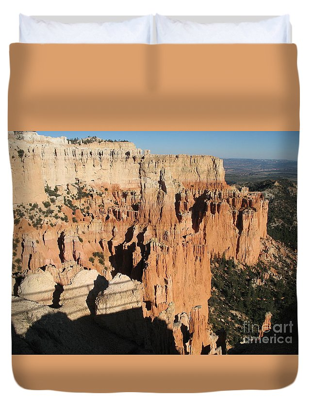 Rocks Duvet Cover featuring the photograph Bryce Canyon Hoodoos by Christiane Schulze Art And Photography
