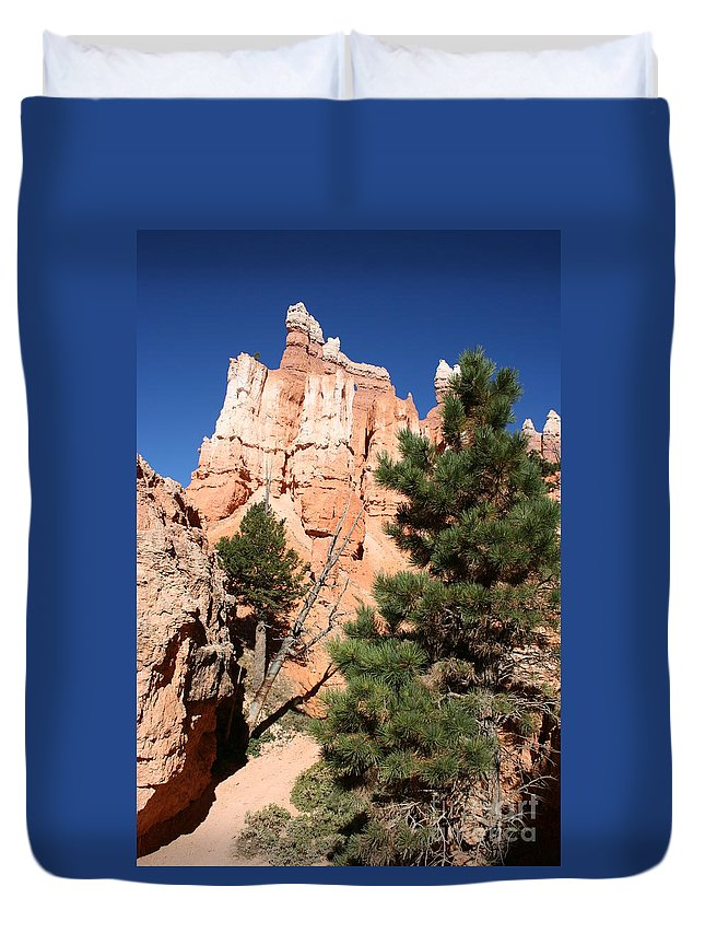 Canyon Duvet Cover featuring the photograph Bryce Canyon Fins by Christiane Schulze Art And Photography