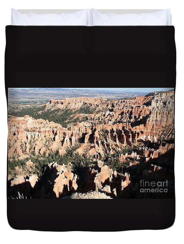 Canyon Duvet Cover featuring the photograph Bryce Canyon Hoodoos And Fins by Christiane Schulze Art And Photography