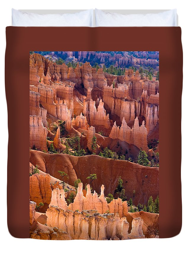 Bryce Canyon Duvet Cover featuring the photograph Bryce Canyon by James BO Insogna